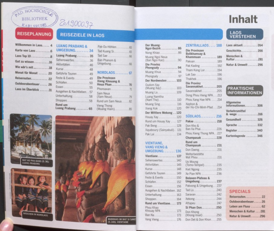 "Table of contents - excerpt from ""Lonely Planet Laos"", © 2007 MAIRDUMONT GmbH & Co. KG"