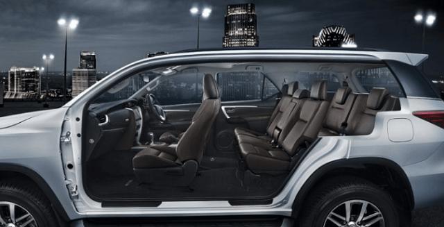 2019 Toyota Fortuner interior
