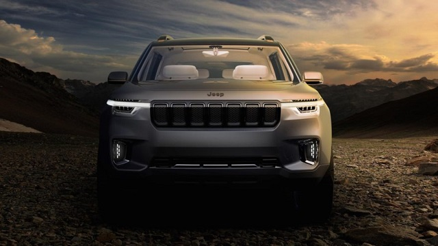 2020 Jeep Wagoneer front view