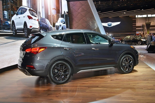 Hyundai Santa Fe Towing Capacity rear view
