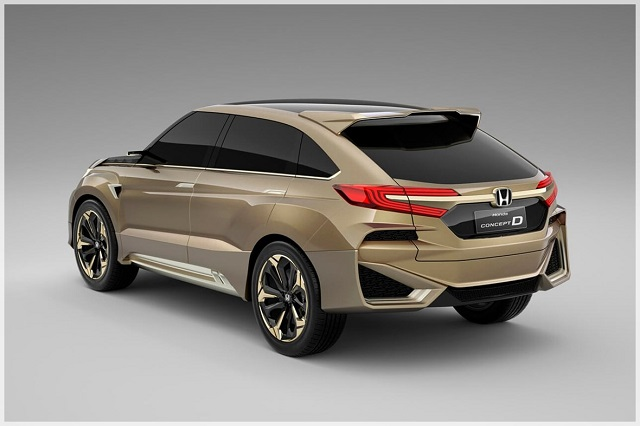 2020 Honda Crosstour rear view