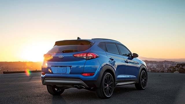 2020 Hyundai Tucson rear view