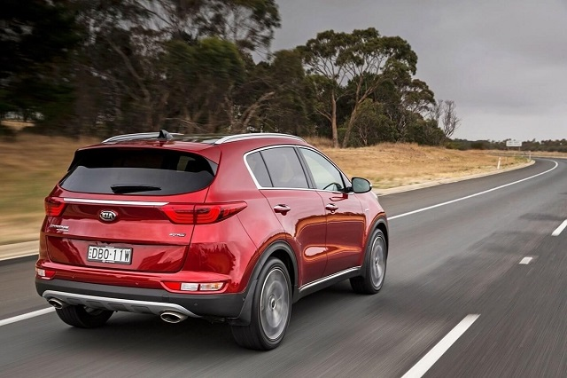 2020 Kia Sportage rear view