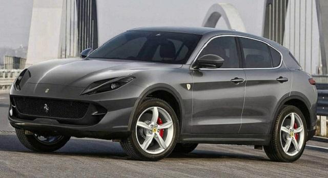 2020 Ferrari SUV front view