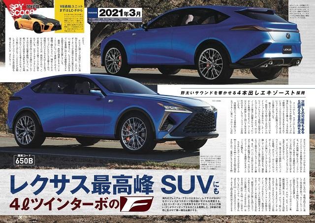 2021 Lexus RX 350 redesign