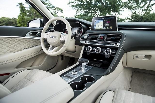 2021 Genesis GV70 interior