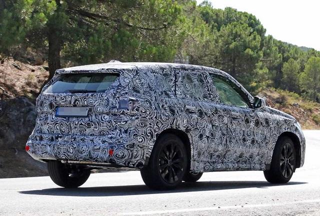 2022 BMW X1 Spy shot rear