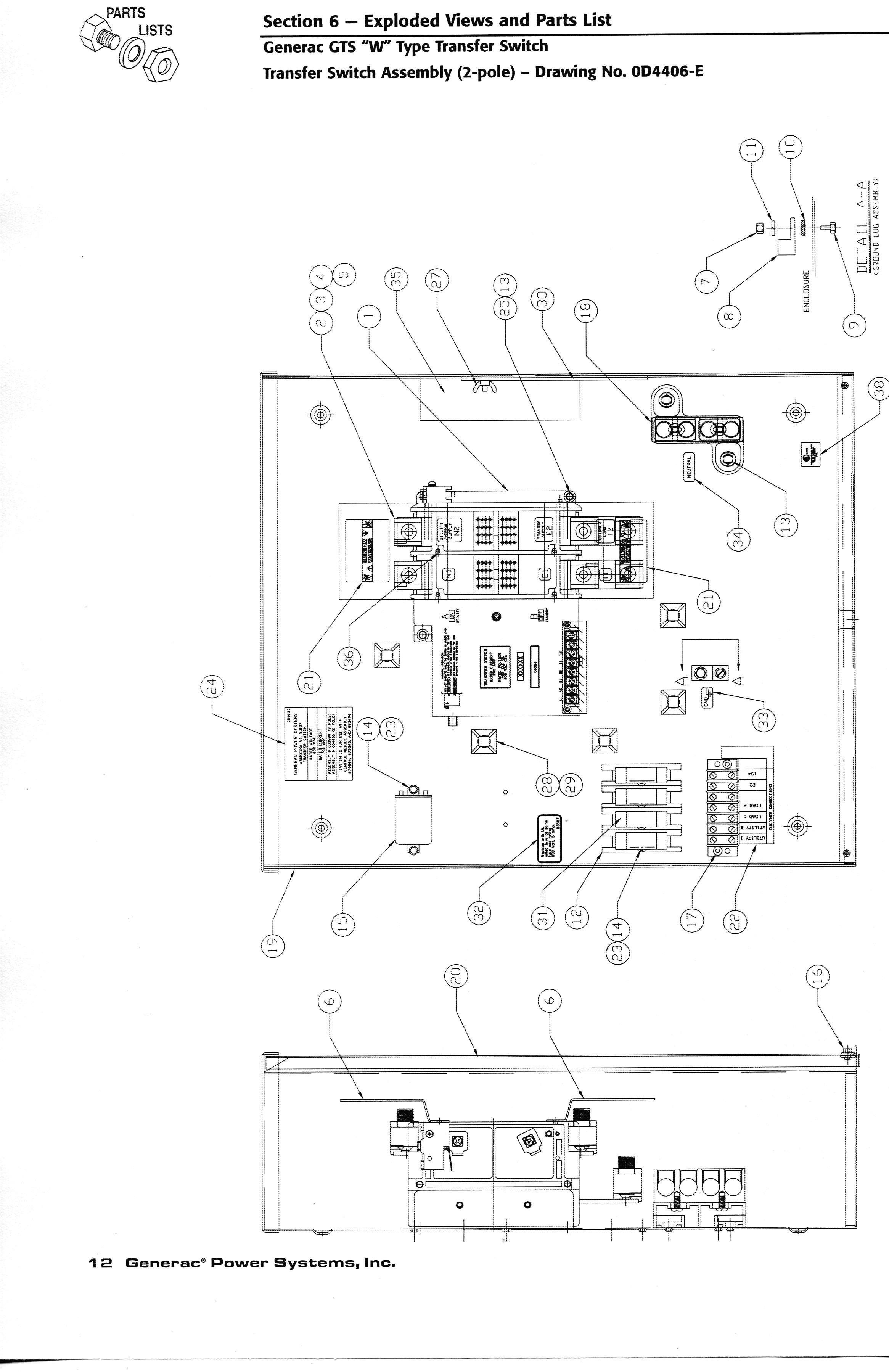 Generac 200 Amp Transfer Switch Wiring Diagram Fresh