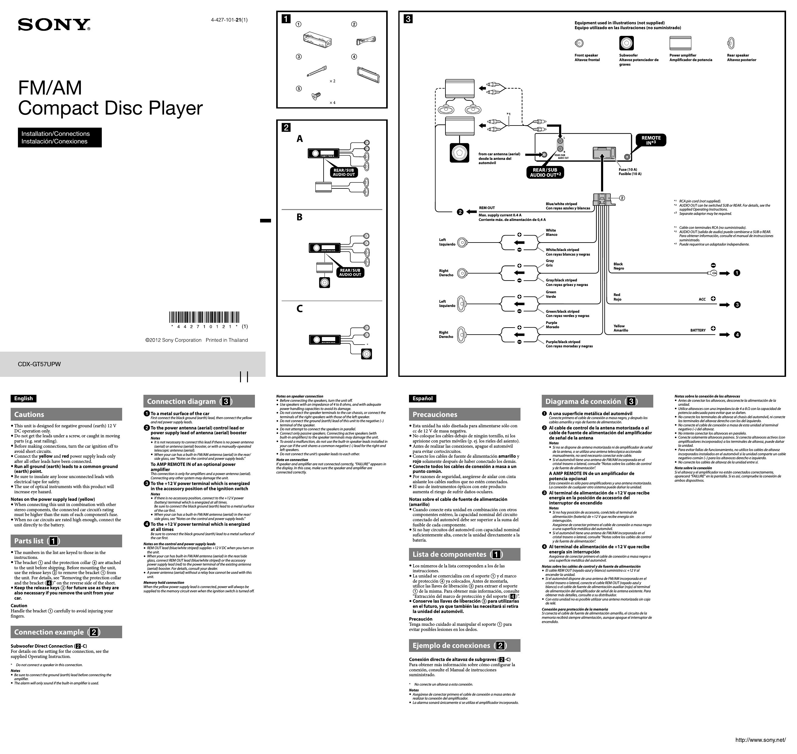 Sony Cdx Gt34w Wiring Schematics For Model