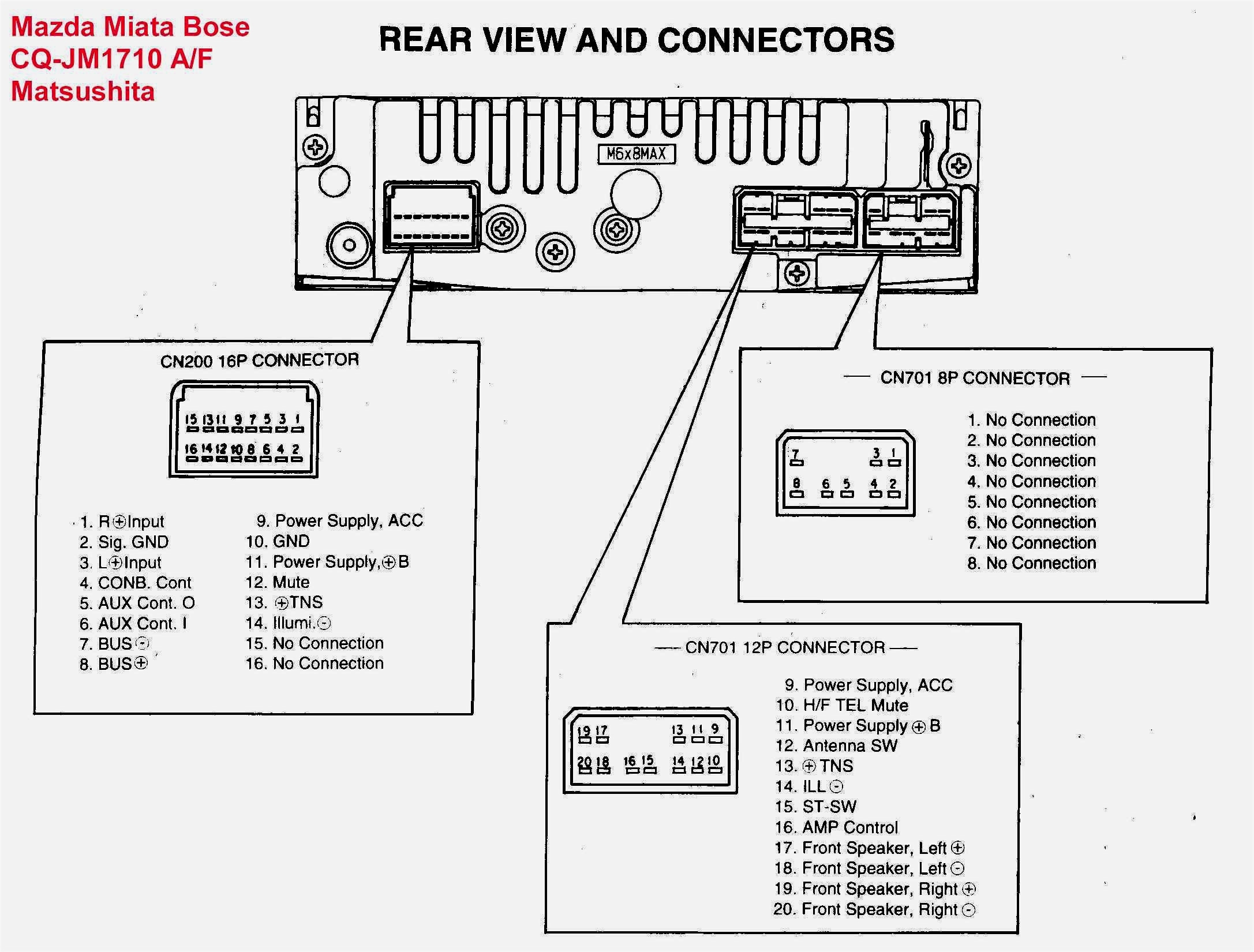 Pioneer Radio Wiring Diagram Colors