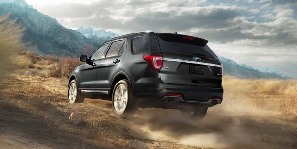 2019 Ford Explorer rear view