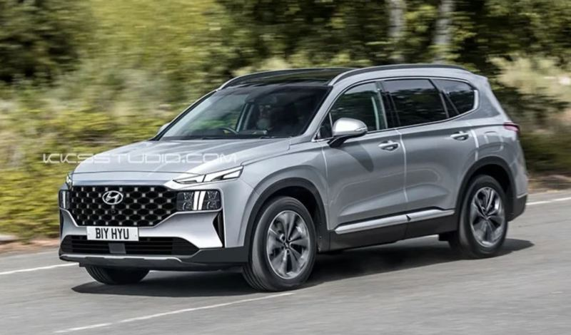 2021 Hyundai Santa Fe Facelift Render
