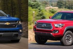 2020 Toyota Tacoma vs Chevy Colorado design