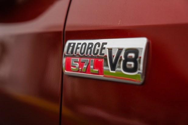 2021 Toyota Tundra V8 Engine badge