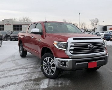 2021 Toyota Tundra colors - Barcelona Red Platinum