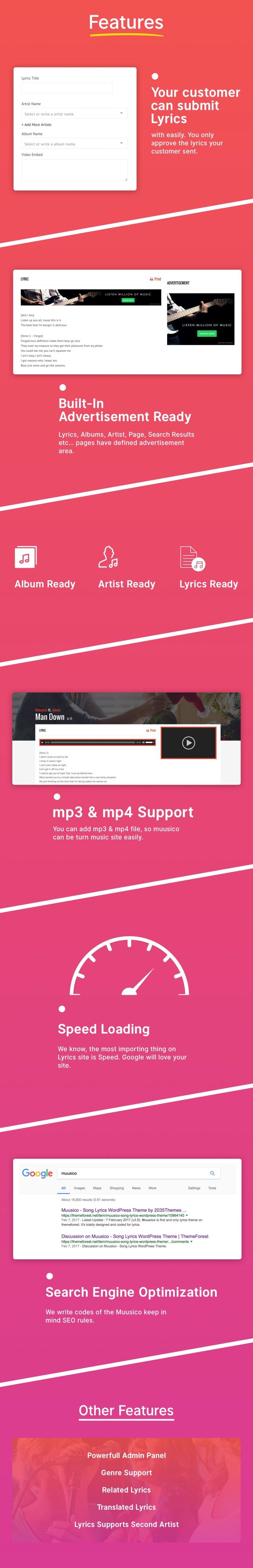 Muusico - Song Lyrics WordPress Music Theme - 3