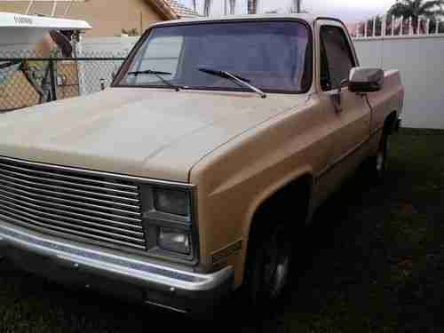 Buy Used 1982 Chevy Pickup Truck V8 454 Big Block 700R4