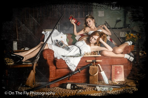 Mothers, don't let your daughters model for On The Fly Photography. I give guns, knives, explosives and gin to 15 year-old girls.