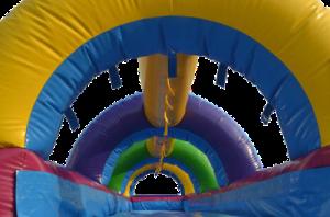 3Rainbow Slip and Slide Water slide Inside