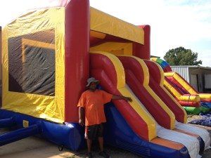 7Super Double Jumpy Jump bounce house combo