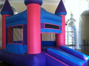 11Pink Castle bounce house combo