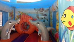18Marino Aquarium Bounce House moonwalk front