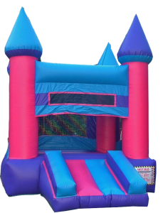 10Pink Castle bounce house combo