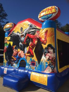 2Justice League bounce house moonwalk