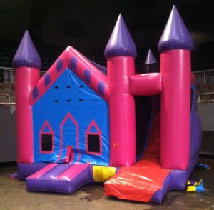 8Princess Palace bounce house combo
