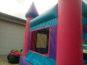1Pink Castle bounce house combo