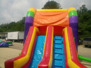 5Over the Rainbow bounce house combo