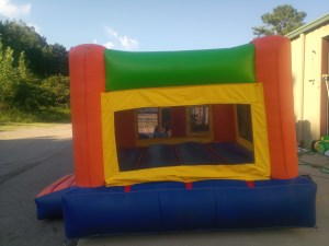 3Fun Indoor Out Orange Bounce House moonwalk