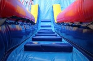 19Deep Blue Slide pool ladder