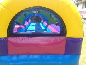 2Rainbow Slip and Slide Water slide Inside