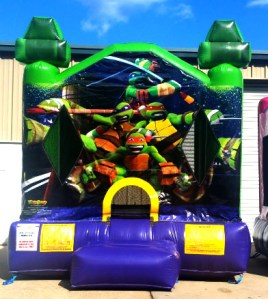 2Teenage Mutant Ninja Turtles Bounce House moonwalk