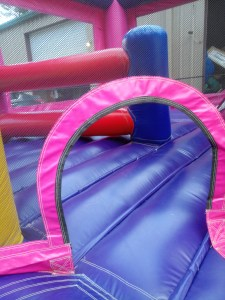 Mega Princess bounce house combo entrance