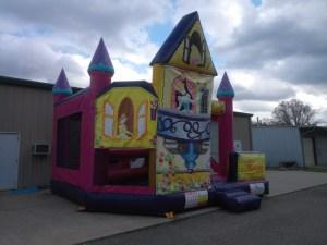 Mega Princess bounce house combo front