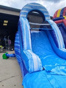 Blue Lagoon Wet Dry slide close up