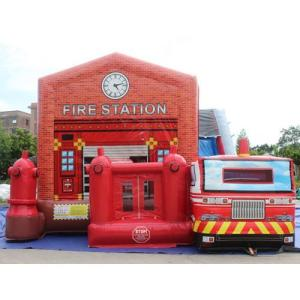 Fire Station Bounce House combo Front