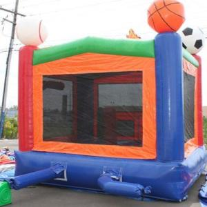 Lets Play Ball Bounce House Side back