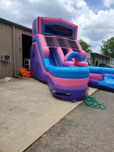 205Party Girl Power Twin Tower Wet Dry Slide side
