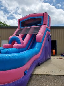 205Party Girl Power Twin Tower Wet Dry Slide angle