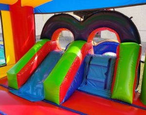 Dream castle combo wet dry inside slide