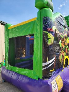 Ninja Turtle Bounce House side