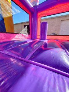 Tickled Pink Bounce House floor