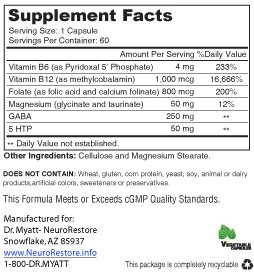 Sero Tonin Nutrition Facts