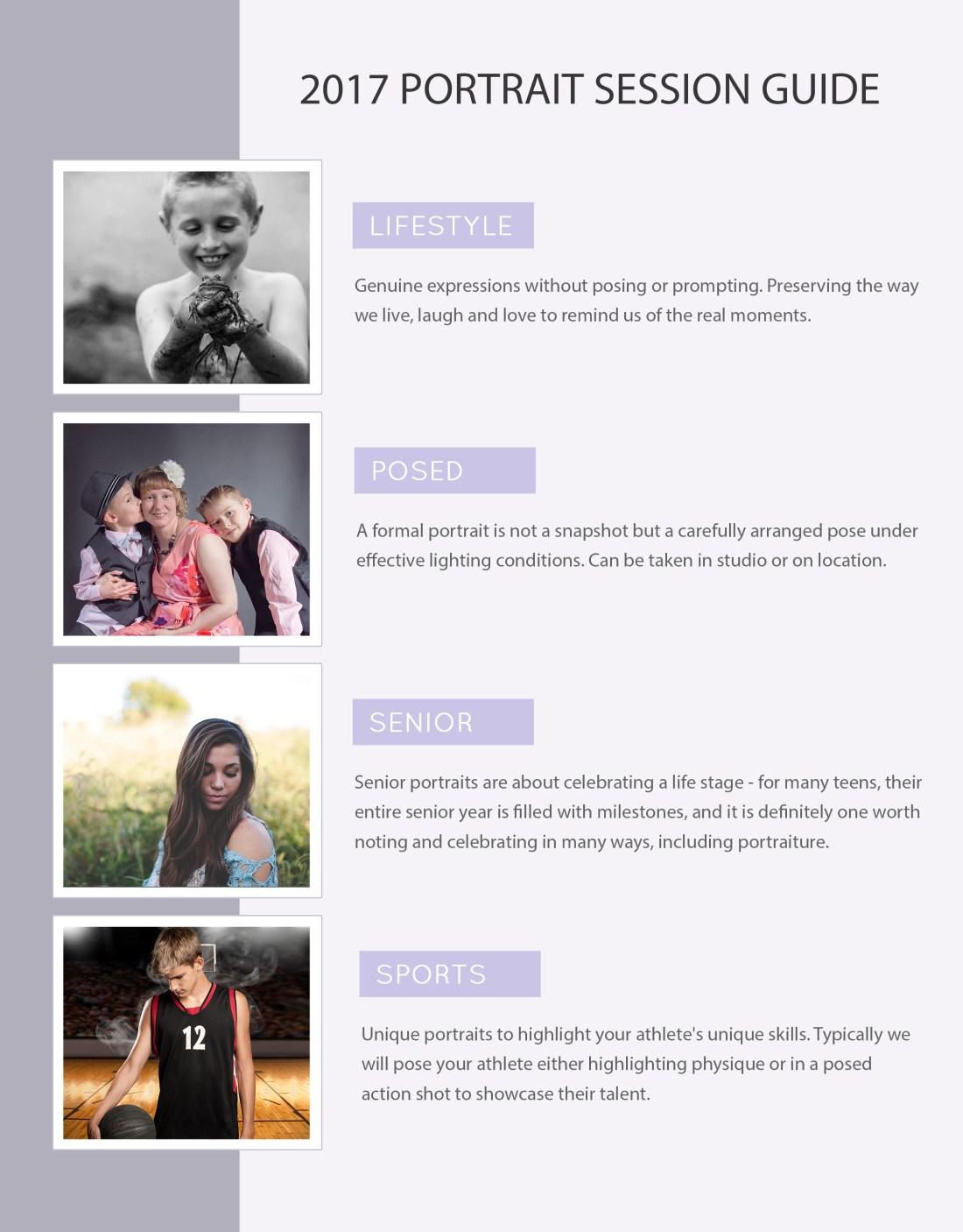 Portrait Session Info