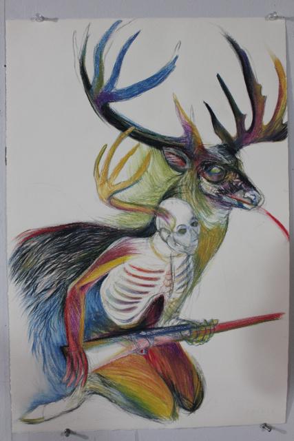 Tamara Andersen - The Hunt | 1997 | Mixed media on paper