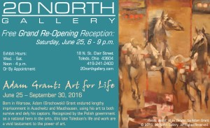 """Adam Grant: Art for Life"" postcard"