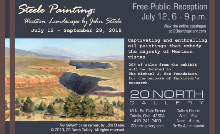 """Steele Painting"" exhibit postcard"
